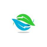 Logo di vettore del bullone della foglia Fotografie Stock Libere da Diritti