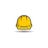 Logo di vettore del casco di sicurezza Fotografia Stock Libera da Diritti