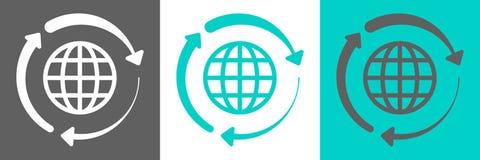 Logo di vettore del globo royalty illustrazione gratis