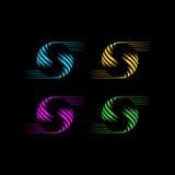 Logo di vettore del globo della lettera s Immagine Stock