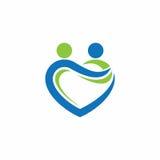 Logo di vettore del partner di amore Fotografia Stock