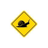 Logo di vettore dell'icona del segnale stradale della lumaca Fotografie Stock