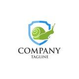 Logo di vettore dell'icona dello schermo della lumaca Immagini Stock