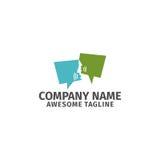 Logo di vettore dell'icona di conversazione di chiacchierata della bolla Immagine Stock