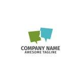 Logo di vettore dell'icona di conversazione di chiacchierata della bolla Fotografia Stock