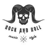 Logo di vettore dell'illustrazione di musica rock Fotografia Stock