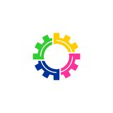 Logo di vettore dell'ingranaggio Fotografia Stock