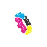 Logo di vettore dell'ingranaggio Fotografie Stock