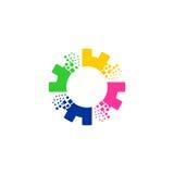 Logo di vettore dell'ingranaggio Fotografia Stock Libera da Diritti