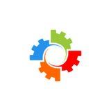 Logo di vettore dell'ingranaggio Immagine Stock