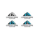 Logo di vettore della costruzione della montagna Fotografia Stock