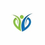 Logo di vettore della foglia della gente Immagine Stock