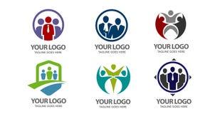 Logo di vettore della gente Fotografia Stock
