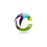 Logo di vettore della lettera di TC Fotografia Stock Libera da Diritti