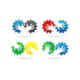 Logo di vettore della mano dell'ingranaggio Fotografie Stock Libere da Diritti