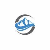 Logo di vettore della montagna Fotografia Stock