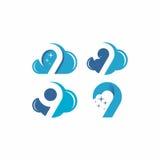 Logo di vettore della nuvola 9 Immagine Stock Libera da Diritti