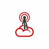 Logo di vettore della nuvola della torre Fotografia Stock