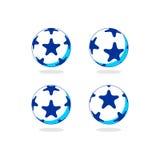 Logo di vettore della palla della stella Fotografia Stock Libera da Diritti