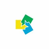 Logo di vettore di chiacchierata Immagine Stock