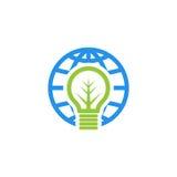 Logo di vettore di ora della terra Fotografia Stock Libera da Diritti