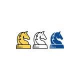 Logo di vettore di scacchi del cavallo Fotografia Stock Libera da Diritti