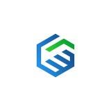 Logo di vettore di scossa della mano Fotografia Stock Libera da Diritti