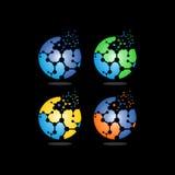 Logo di vettore di tecnologia del DNA della palla Immagini Stock