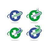 Logo di vettore di tecnologia di salute Immagini Stock Libere da Diritti