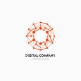 Logo di vettore o progettazione astratto moderno dell'elemento Meglio per l'identità ed i logotypes Forma semplice Fotografie Stock Libere da Diritti