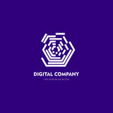 Logo di vettore o progettazione astratto moderno dell'elemento Meglio per l'identità ed i logotypes Forma semplice Immagine Stock Libera da Diritti