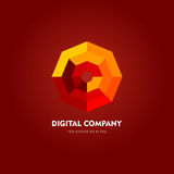 Logo di vettore o progettazione astratto moderno dell'elemento Meglio per l'identità ed i logotypes Forma semplice Fotografia Stock Libera da Diritti