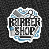 Logo di vettore per Barber Shop Immagine Stock