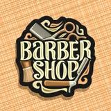 Logo di vettore per Barber Shop Fotografia Stock
