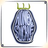 Logo di vettore per Honeysuckle Berry Fotografia Stock