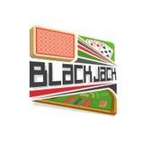 Logo di vettore per il gioco del black jack Immagine Stock