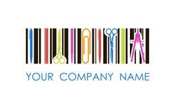 Logo di vettore per il negozio o la società della cancelleria Fotografia Stock Libera da Diritti