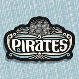 Logo di vettore per il tema dei pirati Fotografia Stock