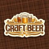 Logo di vettore per la birra del mestiere illustrazione di stock
