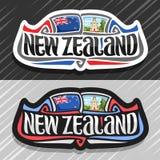 Logo di vettore per la Nuova Zelanda Fotografie Stock