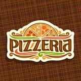 Logo di vettore per la pizzeria italiana Fotografie Stock
