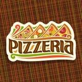Logo di vettore per la pizzeria italiana Immagine Stock