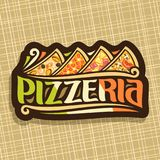 Logo di vettore per la pizzeria italiana Immagini Stock
