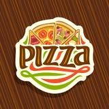 Logo di vettore per pizza italiana Immagine Stock
