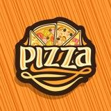 Logo di vettore per pizza italiana Fotografia Stock