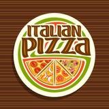 Logo di vettore per pizza italiana Immagini Stock