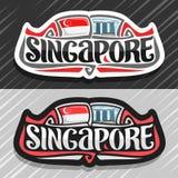 Logo di vettore per Singapore Immagine Stock Libera da Diritti