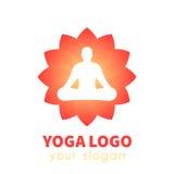 Logo di vettore di yoga Immagini Stock Libere da Diritti