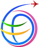 Logo di viaggio æreo Fotografie Stock Libere da Diritti