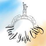 Logo di viaggio di New York Fotografia Stock